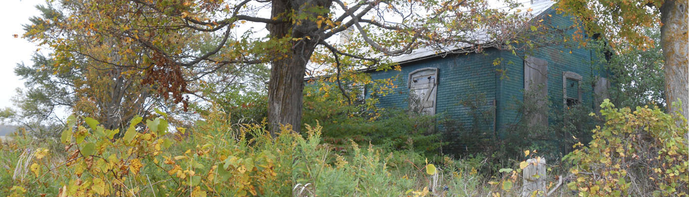 historical schoolhouse, Huron county, derelict, autumn