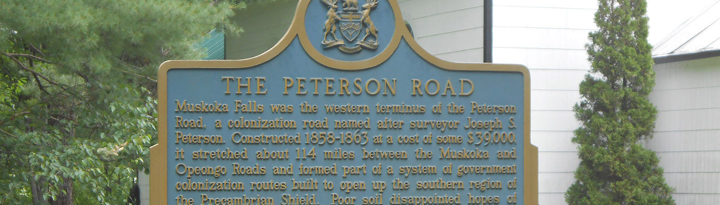 historical colonization road, muskoka, northern ontario