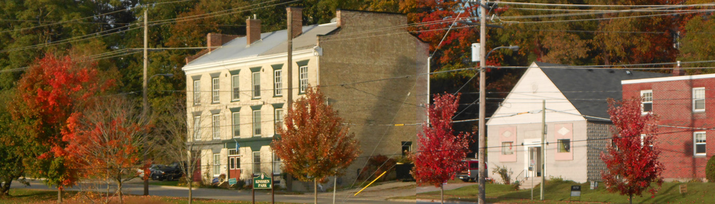 Port Hope, Ontario, historical, architecture, heritage conservation district, autumn