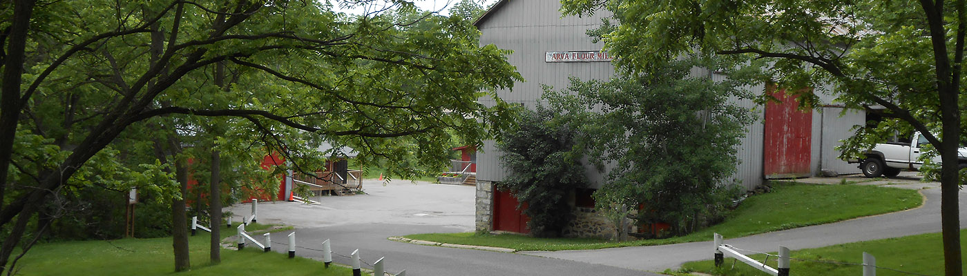 oldest continually operating water-powered flour mill, Ontario, Canada