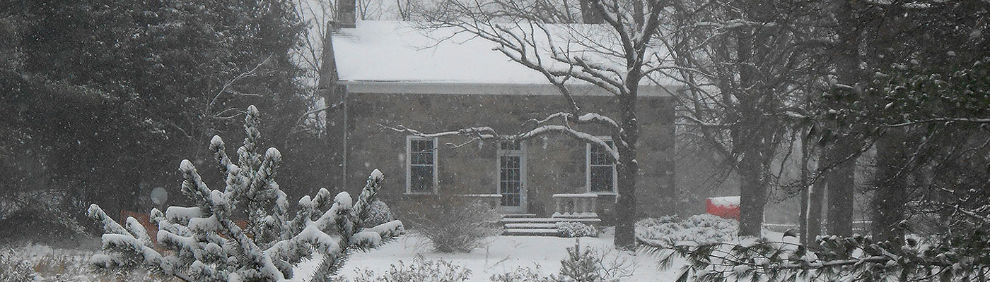 Puslinch, Ontario, historical, stone masonry, winter