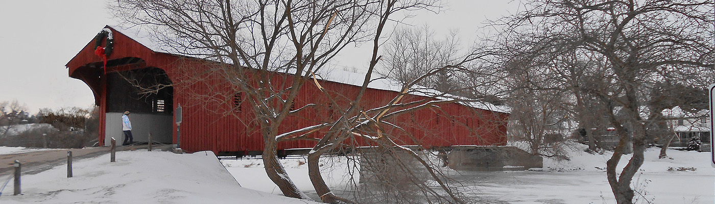 historical covered bridge, german-mennonite community, ontario, canada